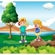 Two Kids at Riverside - GraphicRiver Item for Sale