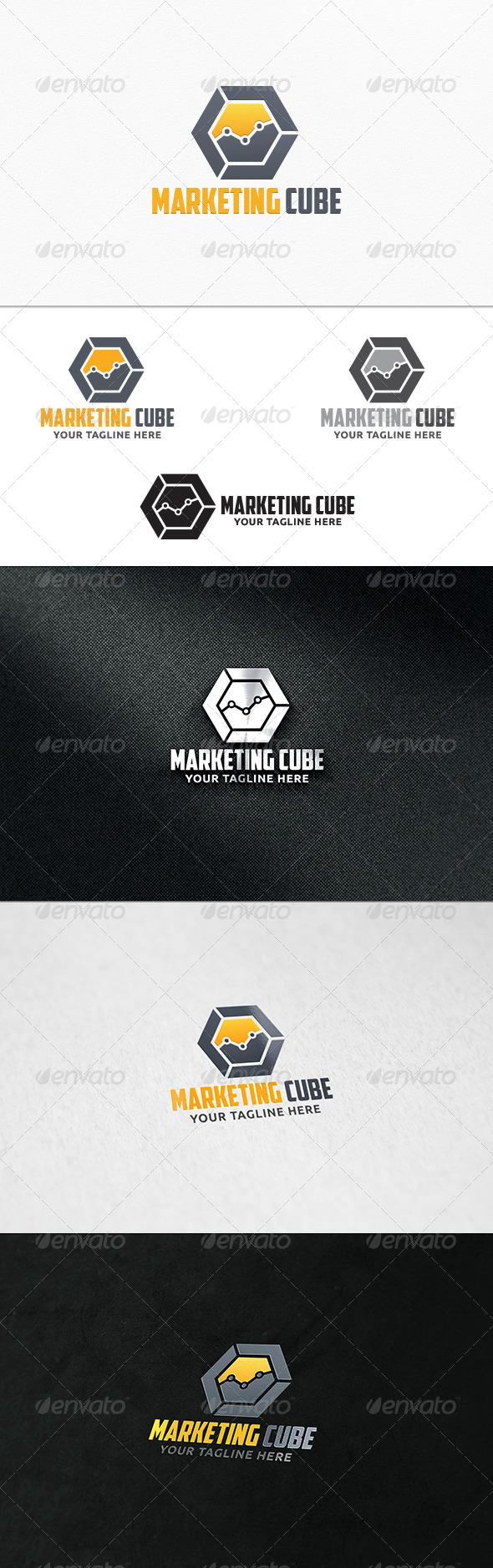 GraphicRiver Marketing Cube Logo Template 7906321