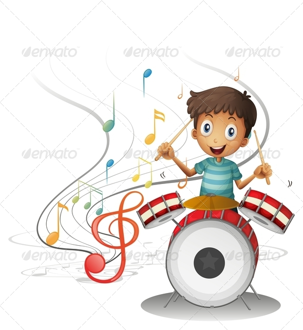 GraphicRiver Young Drummer Smiling 7906452
