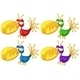 Four Colorful Birds - GraphicRiver Item for Sale