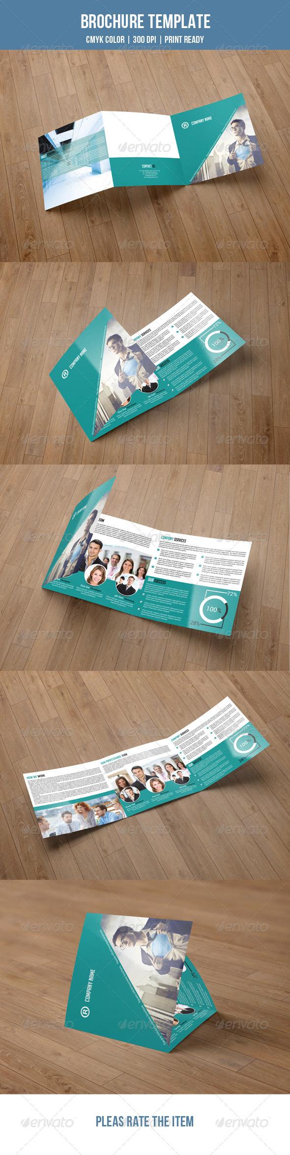 GraphicRiver Square Trifold Brochure-V04 7906702
