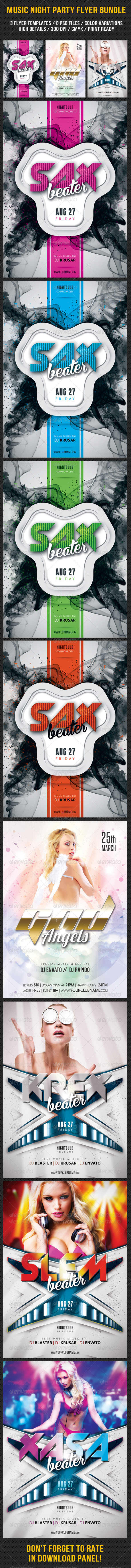 GraphicRiver Music Night Party Flyer Bundle 05 7906741