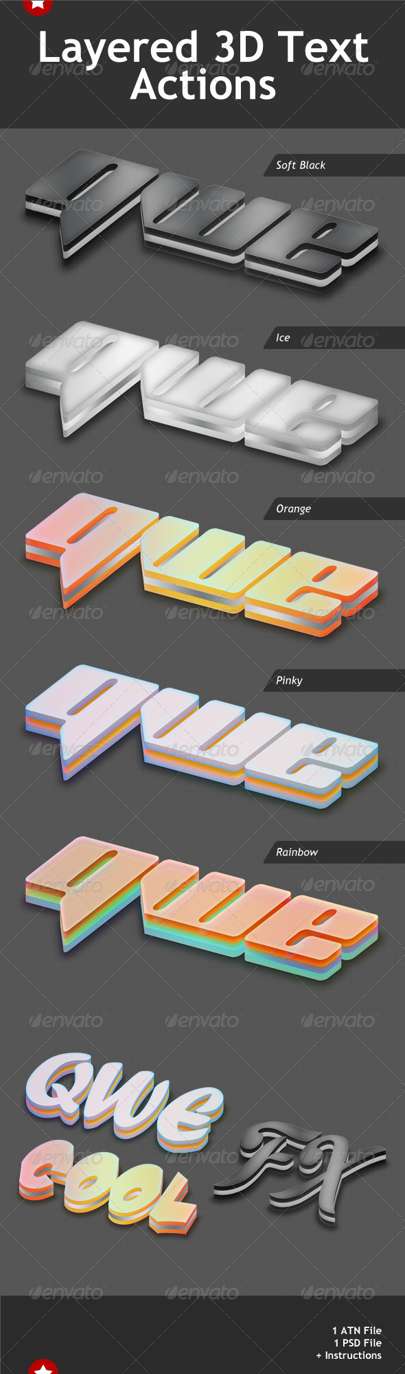 GraphicRiver Layered 3D Text Effects Action 807734