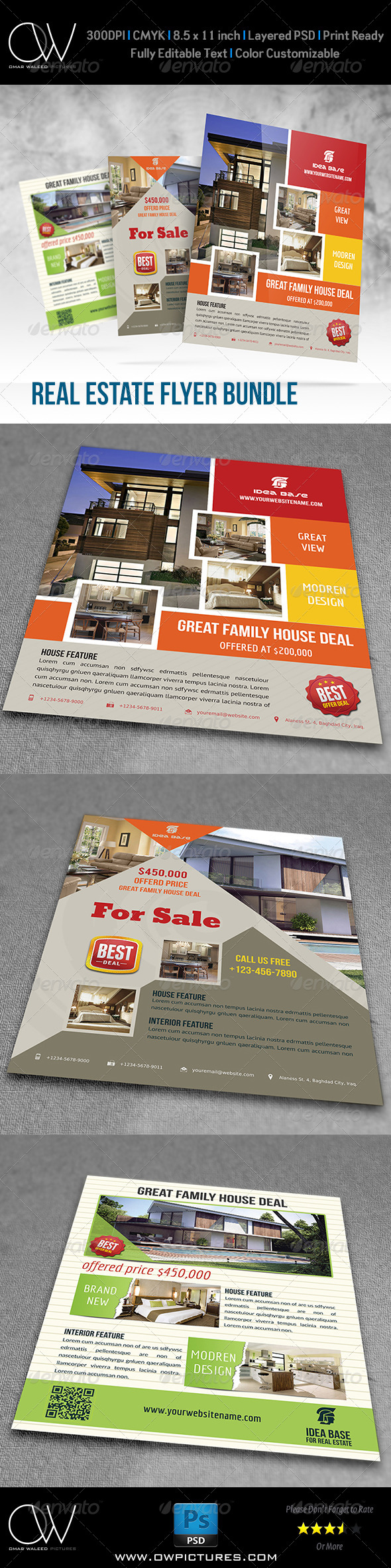 Real Estate Flyer Bundle Template Vol.2