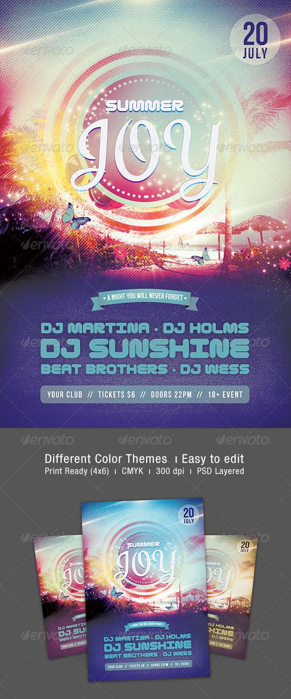 Summer Joy Flyer - Clubs & Parties Events