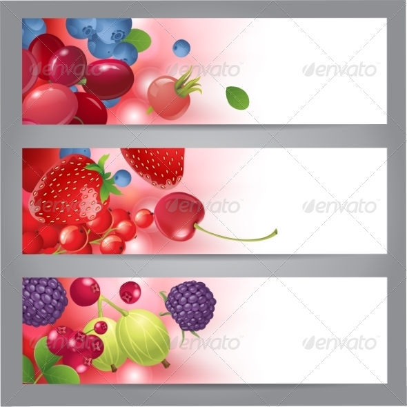 GraphicRiver Banners with Berries 7907101