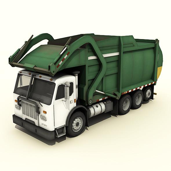 3DOcean Garbage Truck 7907105