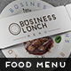 Business Lunch Menu - GraphicRiver Item for Sale