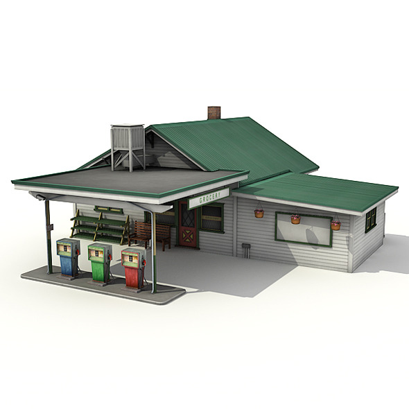 3DOcean Gas Station With Grocery 7907187