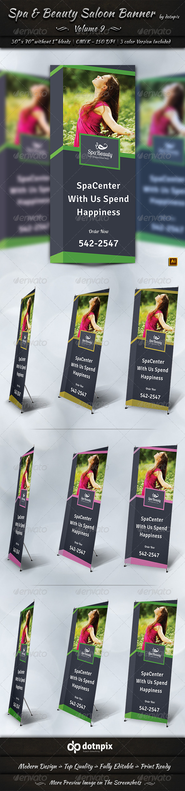 GraphicRiver Spa & Beauty Saloon Business Banner Volume 9 7907196