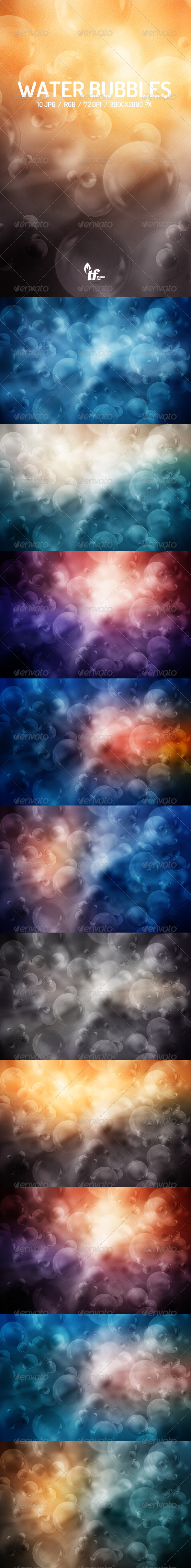 GraphicRiver Water Bubbles Backgrounds 7907197