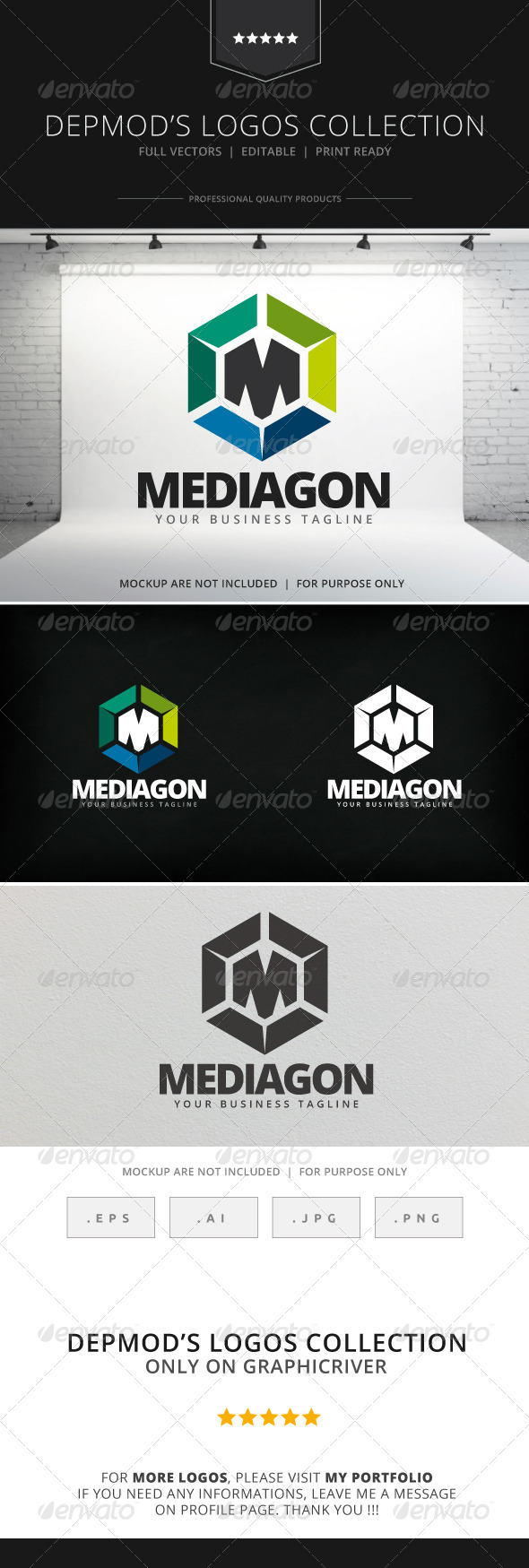 GraphicRiver Mediagon Logo 7907237