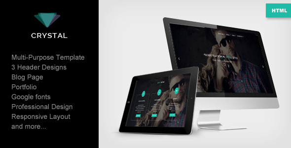 ThemeForest Crystal Responsive Multipurpose Template 7907381