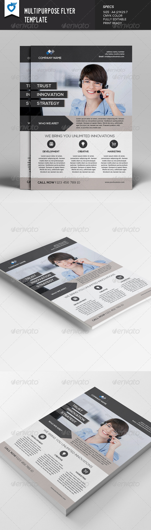GraphicRiver Multipurpose Flyer Template 7907392