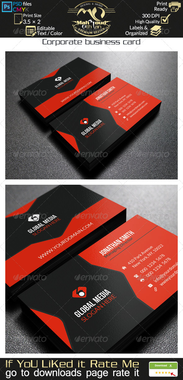 GraphicRiver Corporate Business Card 31 7907963