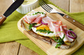 Bacon and fried eggs open sandwich - PhotoDune Item for Sale