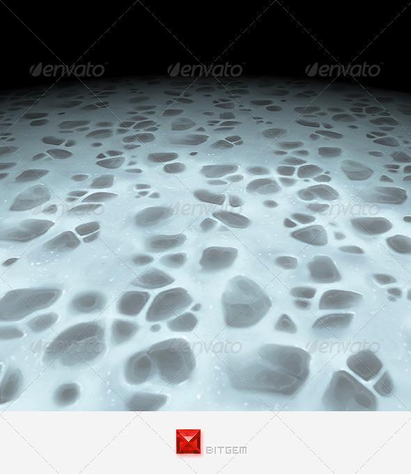 3DOcean Snowy Rocks 7908427