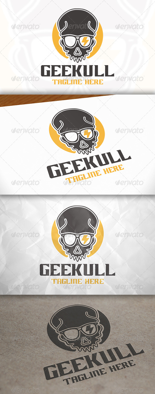 GraphicRiver Geek Skull Logo 7908469