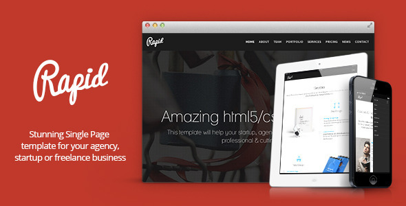 - Rapid – One Page Multipurpose Template
