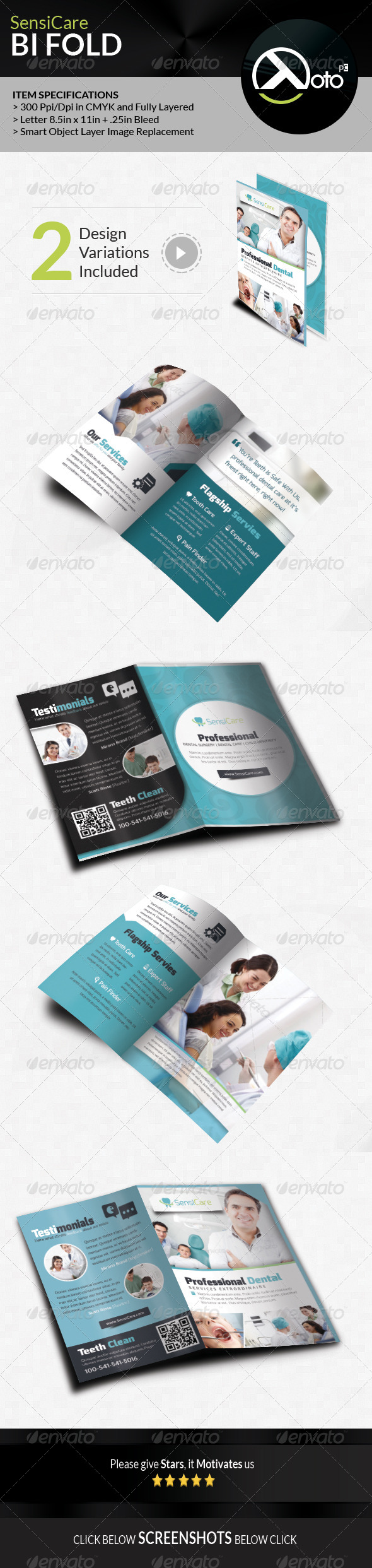 GraphicRiver SensiCare Medical Dental Health Bifold 7908774