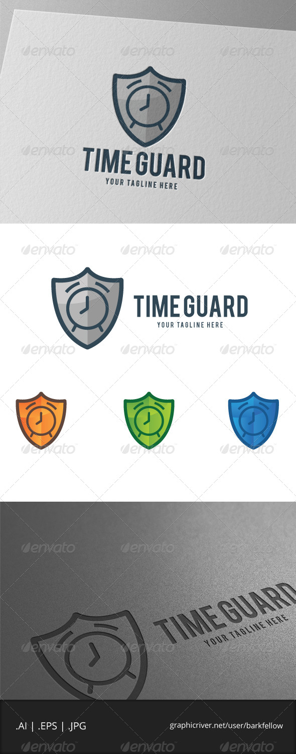 GraphicRiver Time Guard Shield Logo 7908833