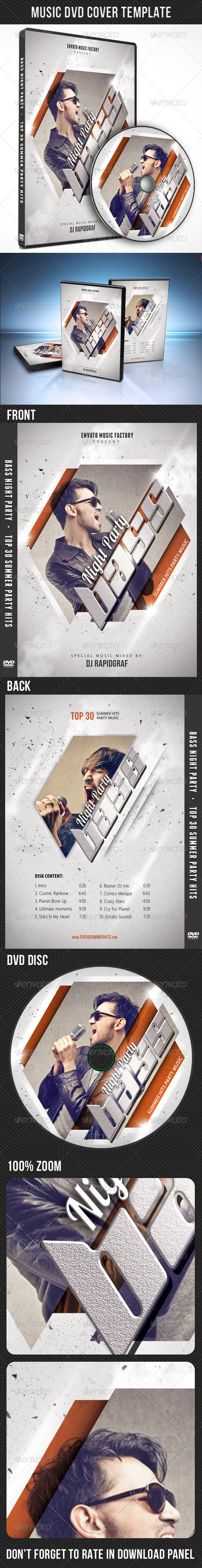 Music DVD Cover Template V03