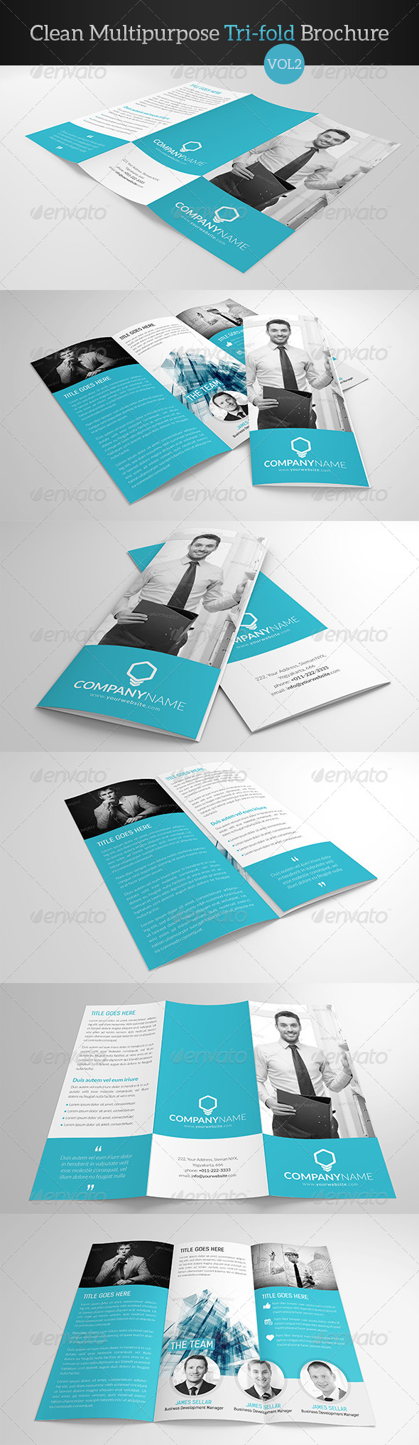 GraphicRiver Clean Multipurpose Trifold Brochure Vol 2 7908913