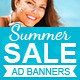 Summer Sale Ad Banners - GraphicRiver Item for Sale
