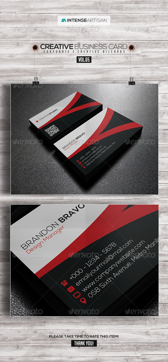 GraphicRiver IntenseArtisan Business Card Vol.65 7909024