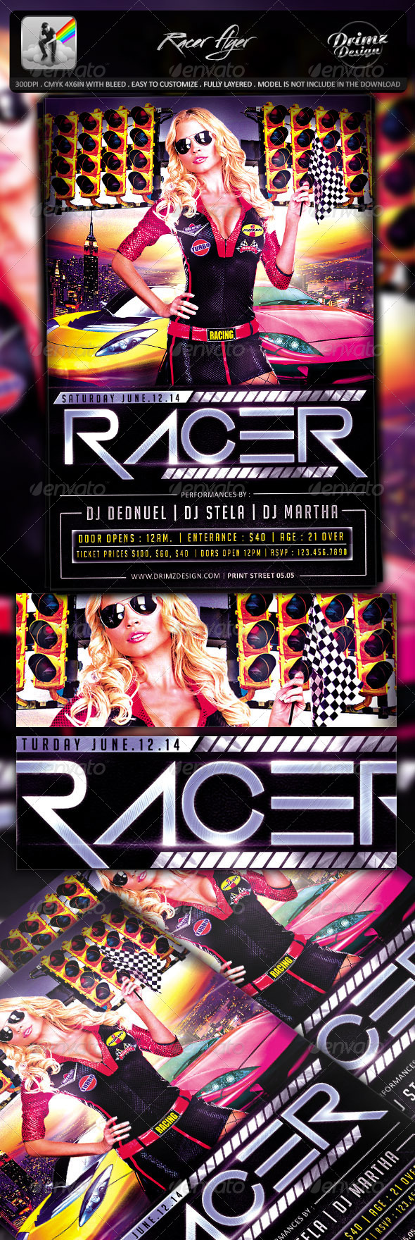 GraphicRiver Racer Flyer 7909073