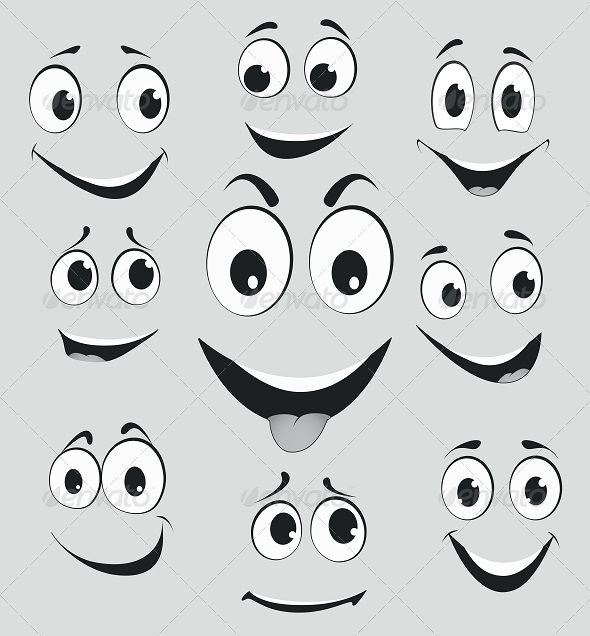 GraphicRiver Facial Expressions Cartoon Face Emotions 7909324