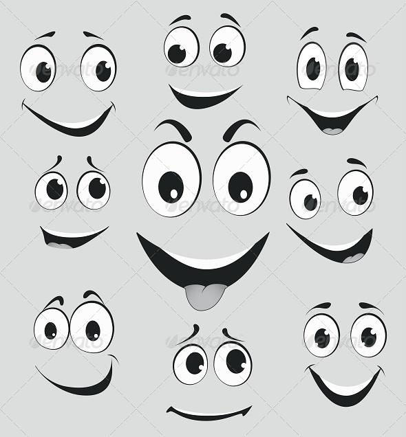 Facial Expressions Cartoon Face Emotions