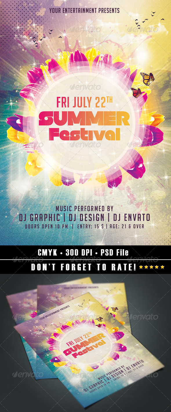 GraphicRiver Summer Festival 7909443