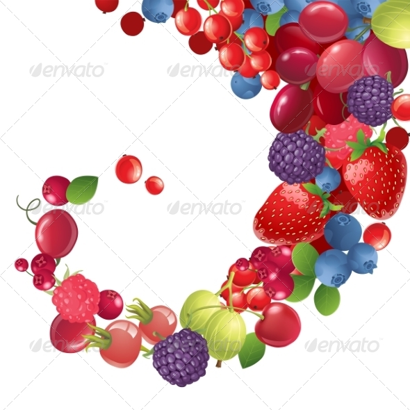 GraphicRiver Background with Berries 7909519