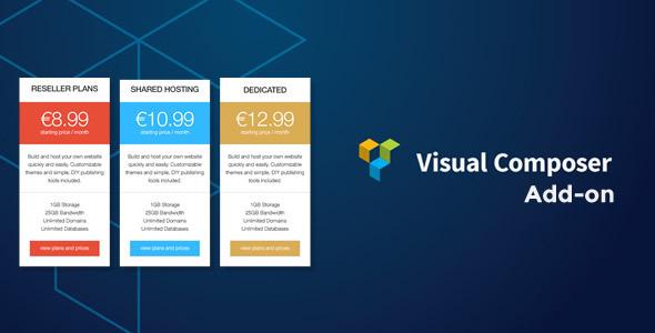 CodeCanyon Pricing Table Responsive Addon for Visual Composer 7909781