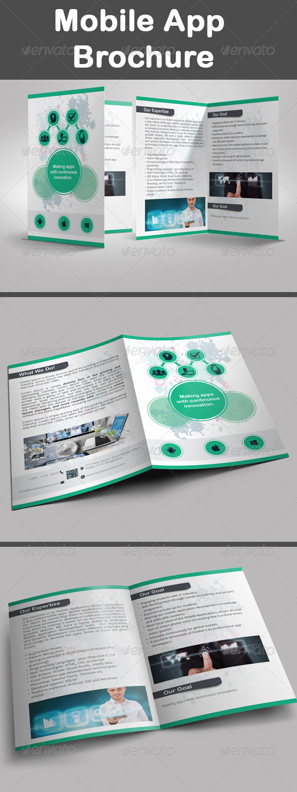 GraphicRiver Mobile App Brochure 7909825