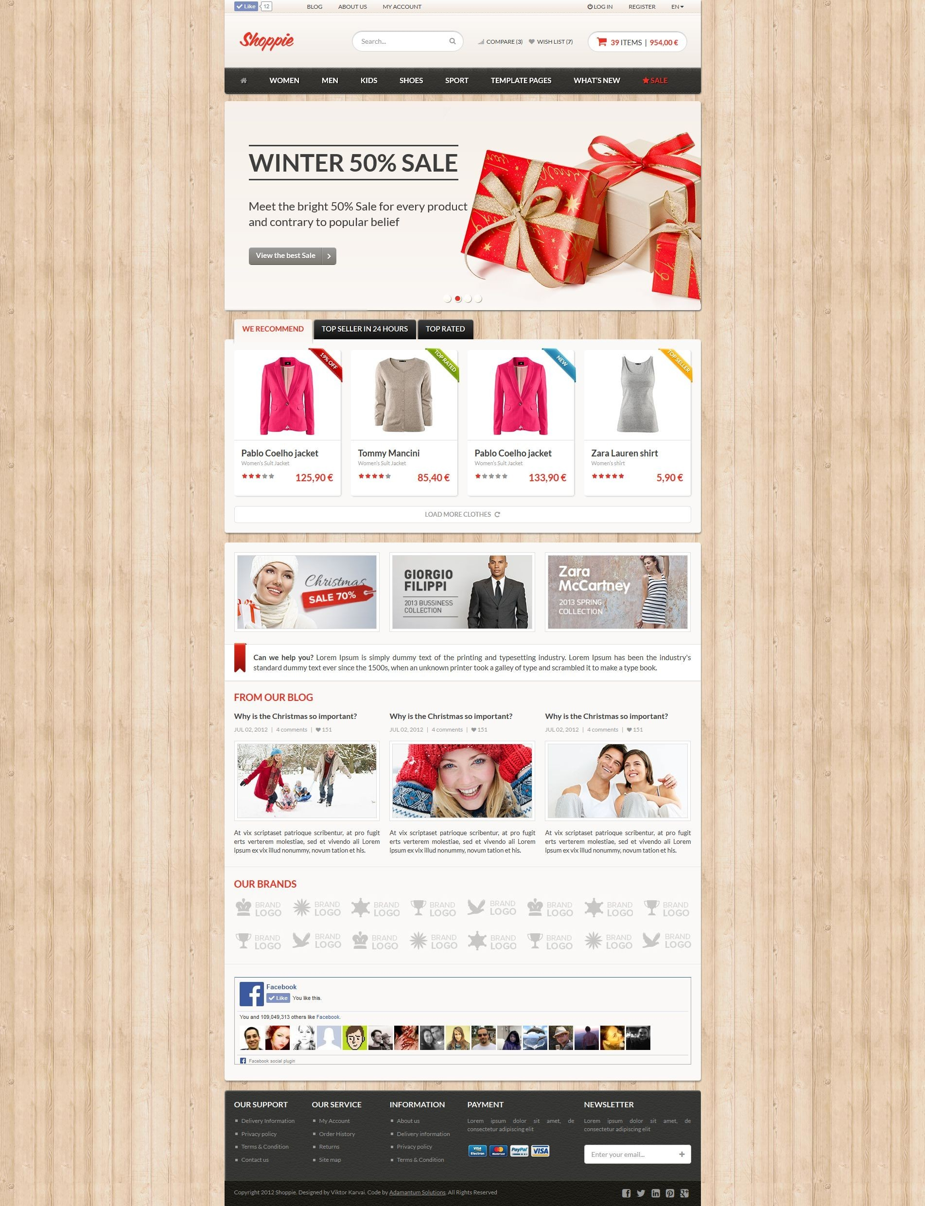 Shoppie - Responsive E-Shop HTML5 Template