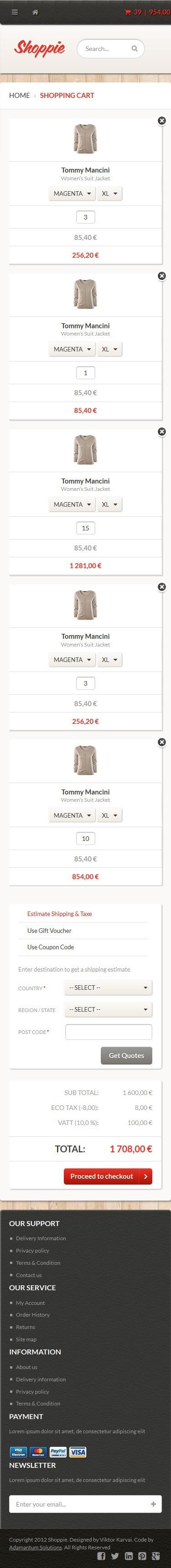 Shoppie - Responsive E-Shop HTML5 Template