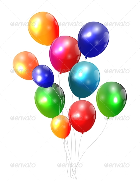 GraphicRiver Color Glossy Balloons Background Vector 7909875