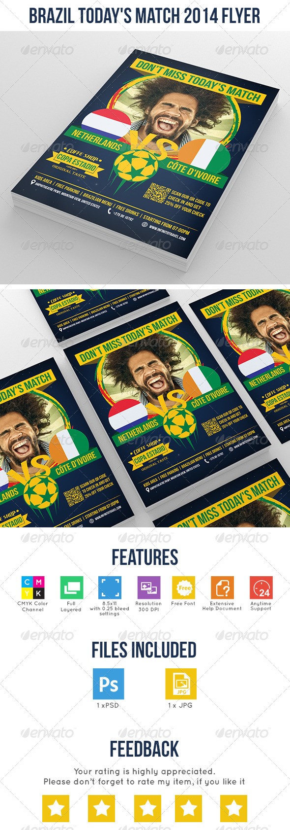 GraphicRiver Brazil Today s Match 2014 Flyer 7827601