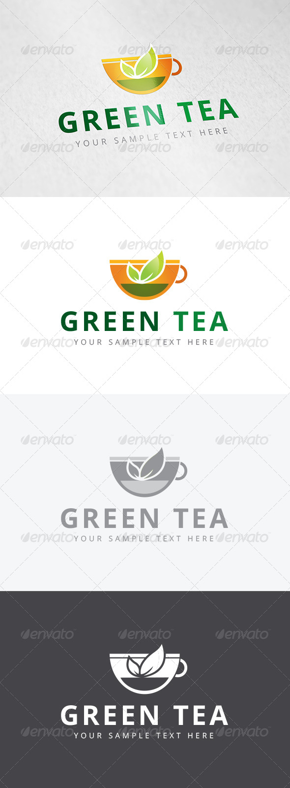 GraphicRiver Green Tea Logo 7909960