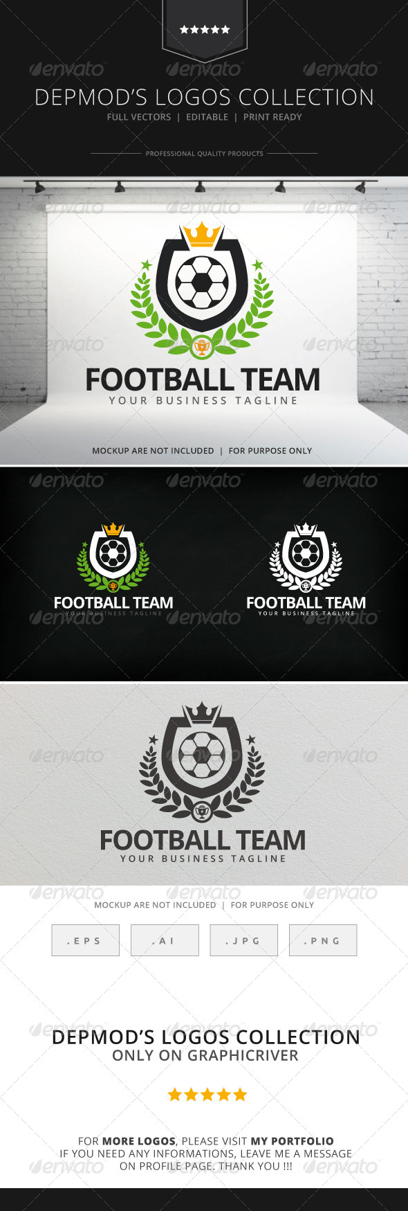 GraphicRiver Football Team Logo 7909970