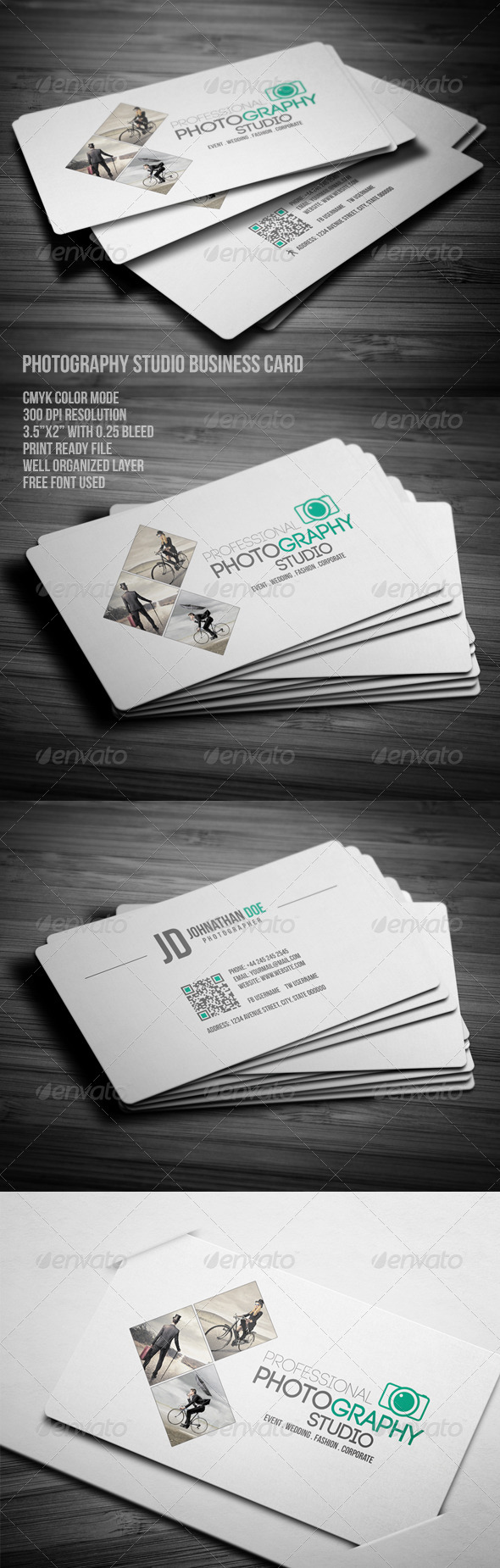 GraphicRiver Photography Studio Business Card 7910154