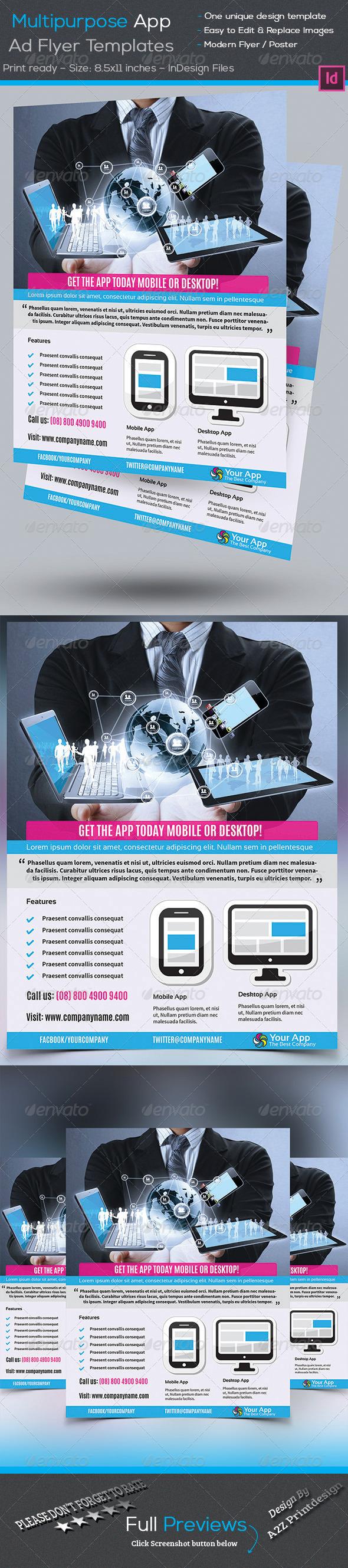 GraphicRiver Multipurpose App Flyer 7910255