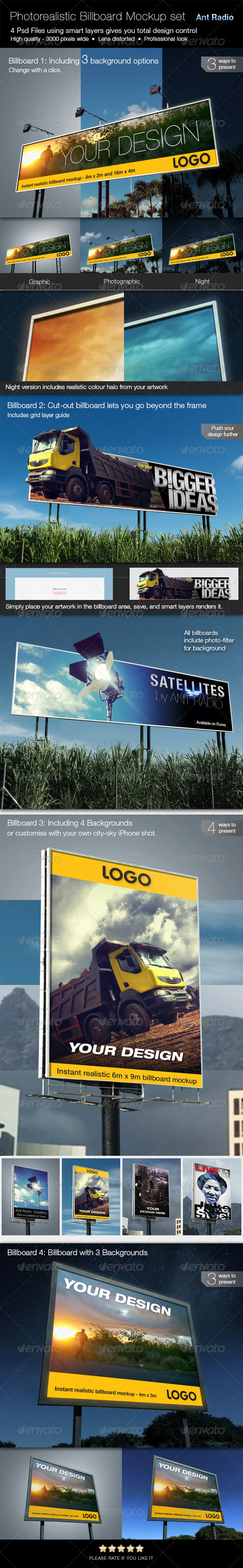 GraphicRiver Set of Photorealistic Billboard Mockups 7910319