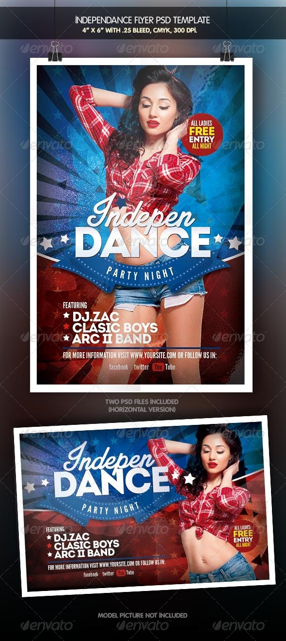 GraphicRiver IndepenDance 4th July Flyer Template 7910366