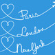 Flying to Paris, London or New York Set - GraphicRiver Item for Sale