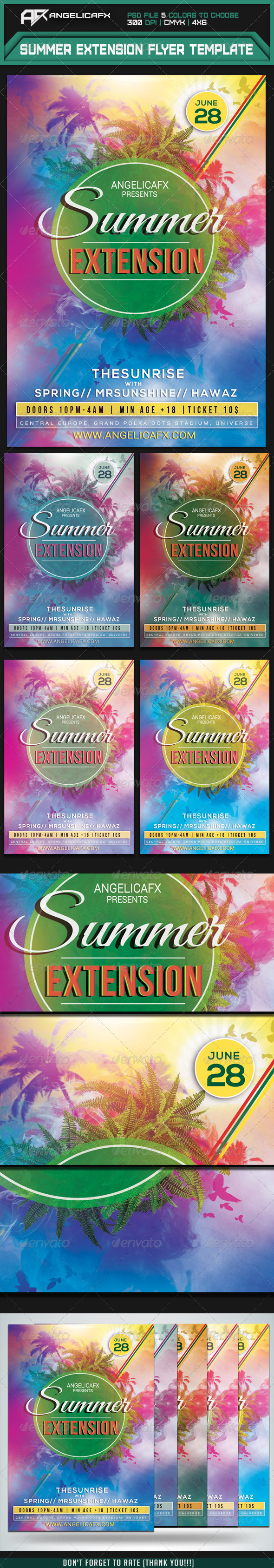 GraphicRiver Summer Extension Flyer Template 7904251