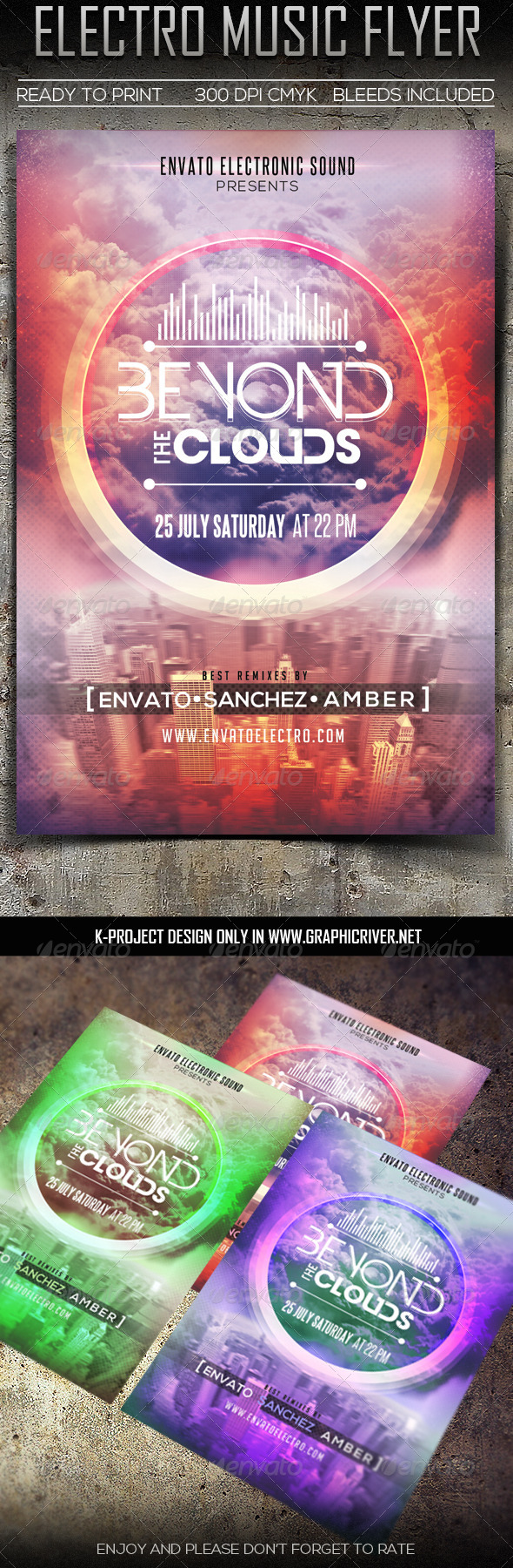 GraphicRiver Electro Music Flyer 7910635