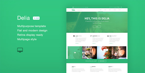 Delia - Multipurpose Muse Template - Creative Muse Templates